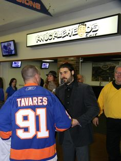 I am extremely grateful to have been able to cover the New York Islanders. All of the people that work at Nassau Veterans Memorial Coliseum have treated me very well, and it is an honor for me to be able to write for a pro sports team. Here is a nice shot of DP on Fan Appreciation Day, which I covered for Examiner.com.