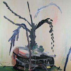 """""""Um vaso mundial"""" de Pepa Pietro. Ela usa a linguagem da pintura para explorar a memória e narrativas pessoais. Rituais humanos."""