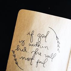 If God is within her, she will not fail.