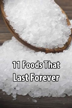 15 Foods That Last Forever Although many foods will last for decades when stored properly (wheat, beans, pasta, etc.), there are some foods that last forever. Emergency Preparation, Emergency Food, Survival Food, Outdoor Survival, Survival Prepping, Survival Skills, Emergency Preparedness, Survival Hacks, Emergency Supplies