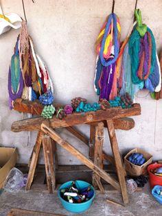 Weaver workshop in Oaxaca Mexico