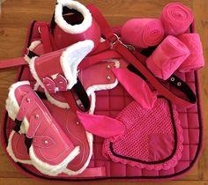 Hot pink Matchy set <3 #horsetack #equestrian