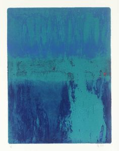 Anthony Benjamin, 'Emerald Deeps' 1959,1999 - etching with aquatint printed on Somerset TP paper.