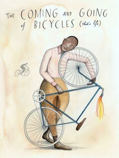 The Coming and Going of Bicycles that's life by SophieBlackall, $45.00