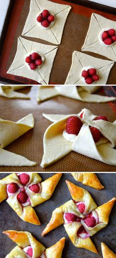 Raspberry Cream Cheese Pastries…do with strawberries or blackberries? – Krisztina Tóth Raspberry Cream Cheese Pastries…do with strawberries or blackberries? Raspberry Cream Cheese Pastries…do with strawberries or blackberries? Cream Cheese Pinwheels, Cream Cheese Pastry, Cream Cheeses, Puff Pastry Pinwheels, Choux Pastry, Shortcrust Pastry, Just Desserts, Delicious Desserts, Dessert Recipes