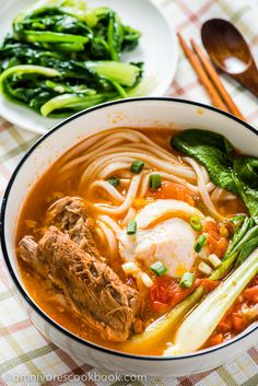Tomato Noodle Soup - The Ultimate Comfort Food | omnivorescookbook.com