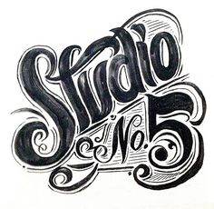 Studio - typeart with a good swift of brush line. The natural touch. Typography Love, Vintage Typography, Typography Letters, Graphic Design Typography, Lettering Design, Logo Design, Luv Letter, Letter Art, Inspiration Typographie