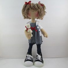 Honey Bunch Doll  Sarah Jane by Therubyrange on Etsy, £45.00.....(from her sassy hairstyle to her gigantic shoes....this doll is ADORABLE!!)...