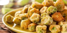 Frozen Okra Recipes, Fried Okra Recipe Frozen, Oven Fried Okra, Southern Fried Okra, Top Recipes, Oven Recipes, Easy Recipes, Barbecue Recipes, Snack Recipes