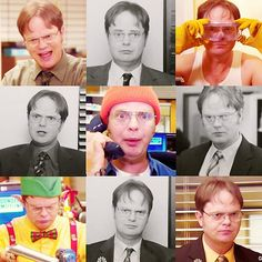 The many faces of Dwight K. Schrute.