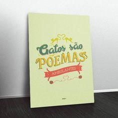Quadro Gatos são poemas ambulantes CA7170