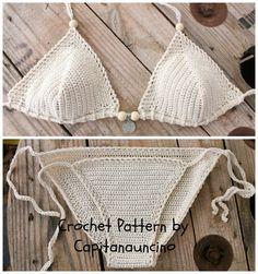 PDF Crochet PATTERN Crochet Bikini Top e Bottom di CapitanaUncino