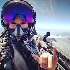 Selfie taken at Naval Air Station Lemoore by Meg Nauman (Garcia)Aviatrix & Naval Officer Jet Fighter Pilot, Air Fighter, Female Fighter, Fighter Jets, Military Women, Military Life, Military History, Pilot Tattoo, Pilot Uniform