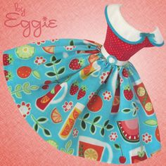 Patio Party - Vintage Barbie Doll Dress Reproduction Repro Barbie Clothes I love this little collar