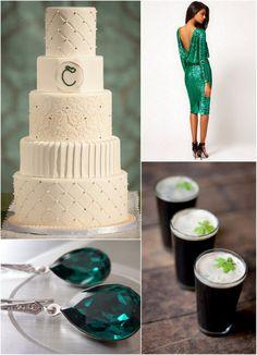 Steal their Style - Brent & Christina's Emerald Green Irish Inspired Wedding Emerald Green Bridesmaid Dresses, Emerald Green Weddings, Black Weddings, Wedding Day, Wedding Bells, Wedding Stuff, Dream Wedding, Irish Wedding Traditions, Nashville Wedding