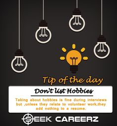 ‪#‎tip‬ of the day. Make your resume effective.