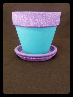 Painted flower pot
