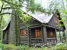 A Steiner cabin, built in the '30s along the Zig Zag River -