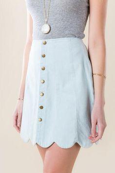 Primrose Snap Scallop Skirt