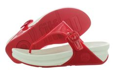 eea1141f7b4a Fitflop Super Jelly 404-209 FF Red Microwobbleboard Sandals Medium (B M) Women  Fitflop