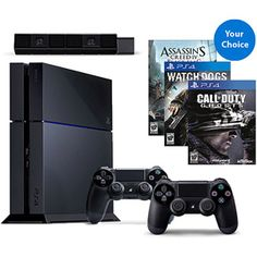 PS4 Console Solution Bundle w/ Dualshock 4 Controller and Game