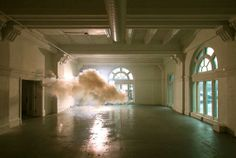 Fascinated by temporality and duality, Dutch artist Berndnaut Smilde creates and photographs real life clouds inside empty spaces. No photoshop involved here, folks. He starts by regulating the temperature and humidity of the space and then sprays a… Land Art, Photography Series, Dutch Artists, No Photoshop, Light Installation, Art Installations, Light Art, Oeuvre D'art, Photo Art
