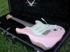 Fender CS 59 Shell Pink Relic Strat ~ Strat-O-Blogster Guitar Blog