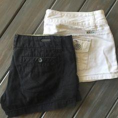 Roxy shorts bundle EUC Roxy shorts bundle. Black sz 3, white sz 5 Roxy Shorts