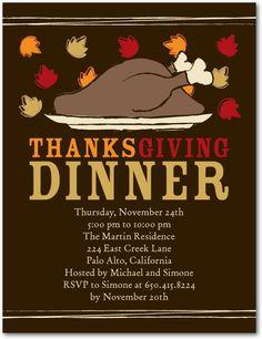 Studio basics: thanksgiving party invitations, Tasteful Thanks $1.39  Discount Available!  #invitation #thanksgiving