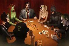 Nathan-Szerdy-SIGNED-Batman-DC-Comic-Art-Print-Harley-Quinn-Catwoman-Joker-Ivy