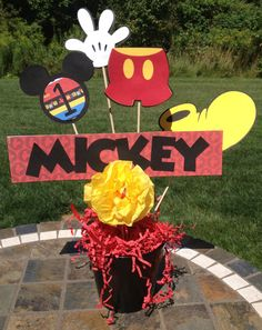 6 Piece Mickey Mouse Centerpiece by LuluBellaCreations on Etsy, $12.50