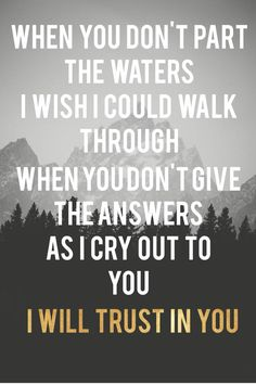 Lauren Daigle - trust in you I love this song so much! ❤️