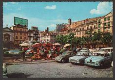 Postcard PORTUGAL LISBON - ROSSIO & classic automobiles