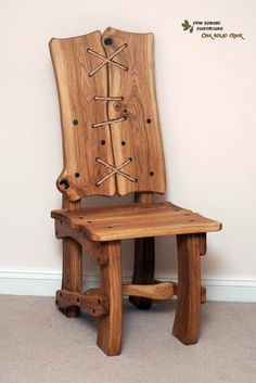 Pin By Tony On Woodland Antiques Projects In 2019 Furniture Rustic Log Furniture, Timber Furniture, Woodworking Furniture, Unique Furniture, Diy Furniture, Furniture Design, Woodworking Plans, Woodworking Projects, Wood Chair Design
