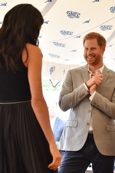 Meghan Markle is transitioning into her role as a royal quite nicely, and it seems like Prince Harry couldn't be prouder. While celebrating the launch of Prince Harry And Megan, Harry And Meghan, Harry And Megan Markle, Meghan Markle Prince Harry, Prinz Harry, Princess Meghan, Meghan Markle Style, Royal Engagement, Princesa Diana