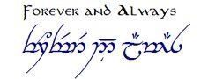 always in elvish script - Google Search