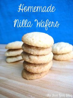 homemade Vanilla Wafers 1/2 cup butter, softened 1/2 cup sugar 1/4 cup brown sugar 1 large egg 1 tsp vanilla extract 1 1/3 cup all purpose flour 1/2 tsp salt 1/2 tsp baking powder Directions Preheat the oven to 325F and line a baking sheet with parchment paper.