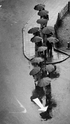 To me, photography is an art of observation. It's about finding something interesting in an ordinary place… I've found it has little to do with the things you see and everything to do with the way you see them. -Elliot Erwitt ...... Rainy Day, Tokyo, 1968.....ANDRE KERTESZ