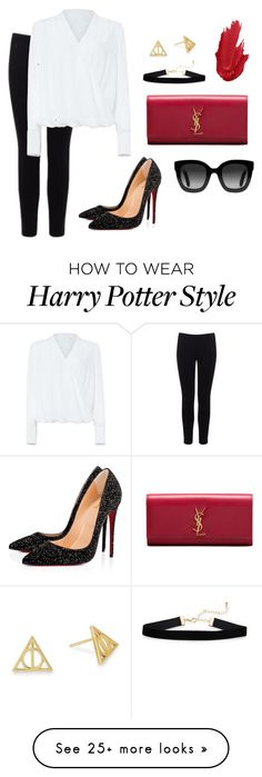 """""""Wonder woman"""" by scifandziaism on Polyvore featuring Warehouse, Christian Louboutin, Yves Saint Laurent, Alex and Ani, Gucci and Damsel in a Dress"""