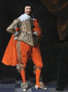 Robert Rich Earl of Warwick, Aged 45 Daniel Mytens National Trust, Hardwick Hall 17th Century Clothing, 17th Century Fashion, 18th Century, Historical Art, Historical Costume, Royal Fashion, Fashion Looks, Old Portraits, Renaissance