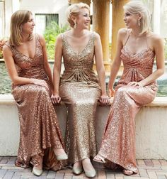 Sparkly Sequined 2016 Bridesmaid Dresses V-neck Ruffle Sheath Bridesmaid Gowns Sexy Cheap Sweep Train Evening Party Dresses Online with $67.54/Piece on Weddingmall's Store   DHgate.com