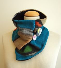 Hand painted Silk & Wool Neck Warmer-28x7 in. Ideas for her. Scarf neck warmer. Giveaways. Gifts for her. Gifts for him de gilbea en Etsy