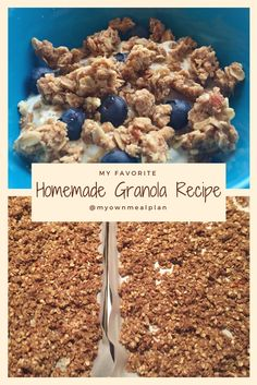 The best HOMEMADE granola recipe ever! Super easy! Never buy store bought again! Great on yogurt, cereal, or just to snack on! Cinnamon, chunky, goodness! Makes every breakfast brighter!!