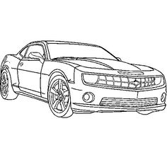 Chevrolet Camaro Truck Coloring Pages Cool For Kids