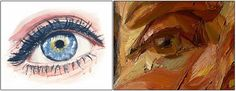 olhos de aquarela e tinta a óleo- post pinturas/ watercolor eyes and oil paint- post about paintings