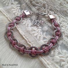 DIY - Vackert armband av lädersnöre och silverringar
