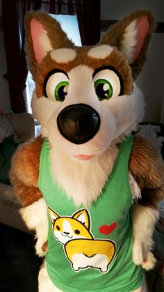 "sockcorgi: "" Do I look presentable for this week's Fursuit Friday? """