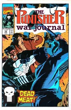 Punisher War Journal (1988 1st Series) 28  Marvel Comics Modern Age Comic book covers