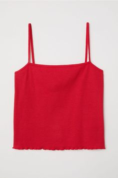 Shop online for affordable women's tops at H&M, from tanks, t-shirts and camis to dressy going-out tops. Choose from a variety of colors, cuts and sizes. Cute Crop Tops, Tank Tops, Short Tops, Ladies Dress Design, Camisole Top, Cute Outfits, Clothes, Shoulder Straps, Ladies Dresses