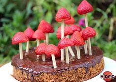 Strawberry + Mikado Woodland Cake, via Mikado